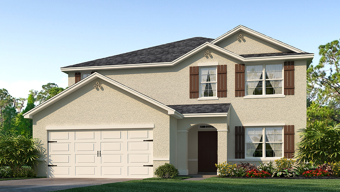 Park Creek The Elle 2,807 square feet 5 bed, 2.5 bath, 2 car, 2 story Riverview Florida