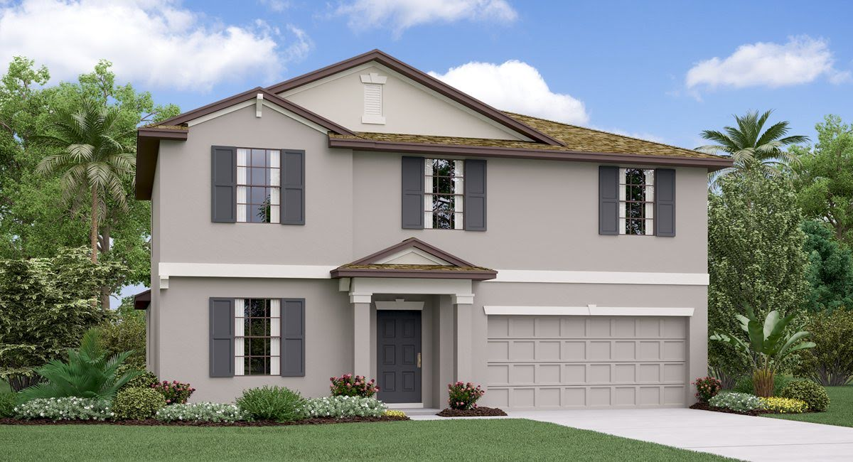 The Raleigh Model Tour Lennar Homes Belmont  Ruskin Florida