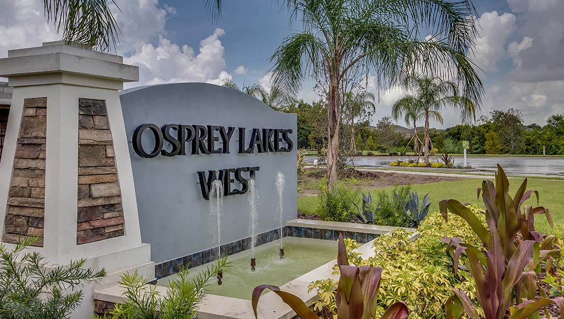 Osprey Lakes New Town Homes Community Riverview Florida