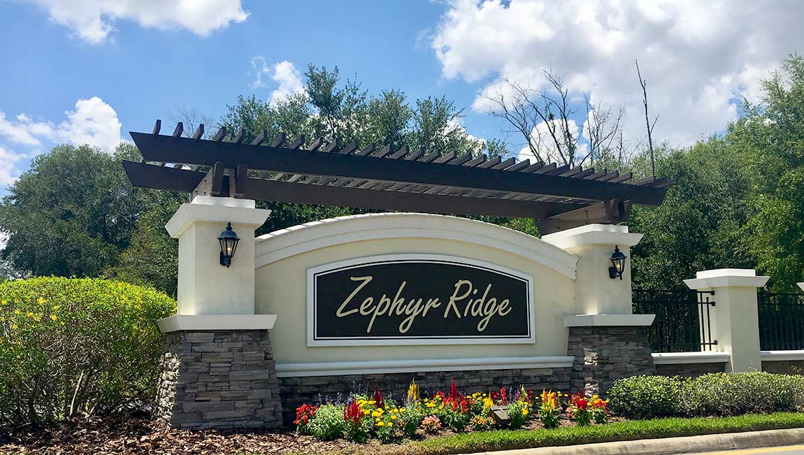 Zephyr Ridge New Home Community Zephyrhills Florida