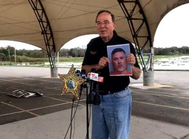 Polk County Sheriff Gray Judd at the Press Conference Saturday