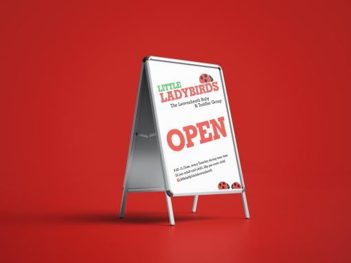 Little Ladybirds A Frame Poster