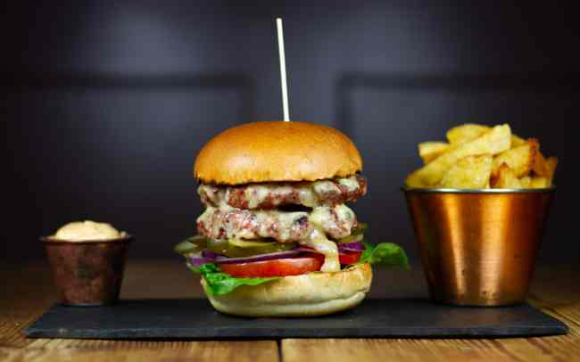 Burger and Chips Food Photography