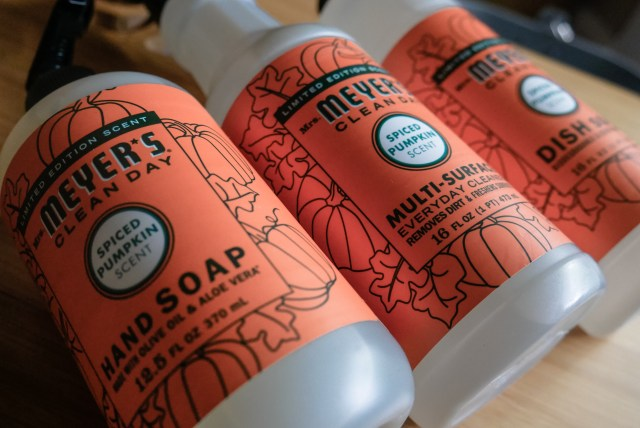 Mrs. Meyers Cleaning Set in the scent Pumpkin Spiced - a Grove Collaborative exclusive.