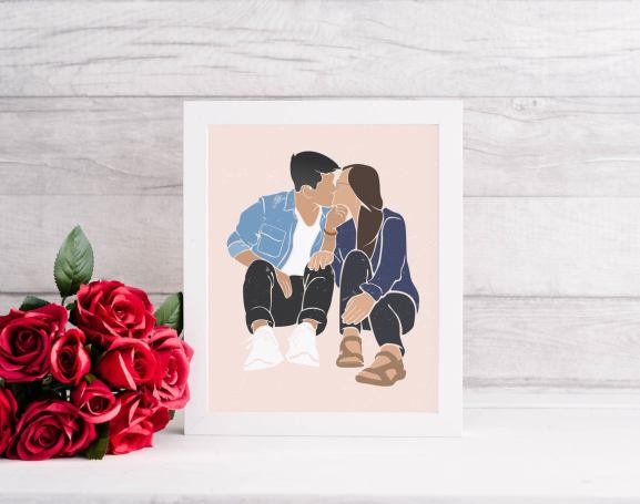Personalized Portrait by VisionStudioArt on Etsy (Photo by VisionStudioArt on Etsy)