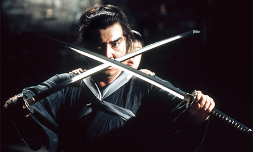 """[Image: promotional image from the """"Lone Wolf and Cub"""" films.]"""