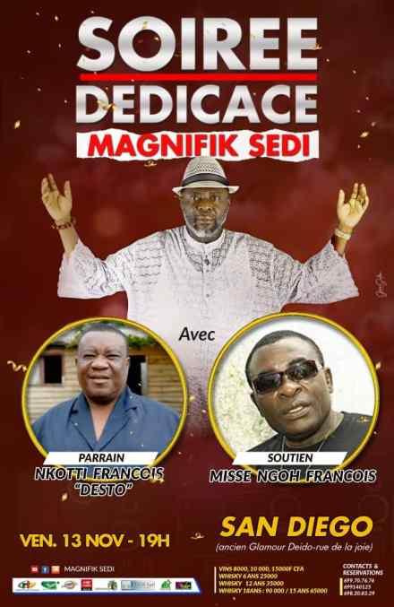 Soirée Dédicace – MAGNIFIK SEDI présente son nouvel album le 13 Novembre à San Diego de Douala