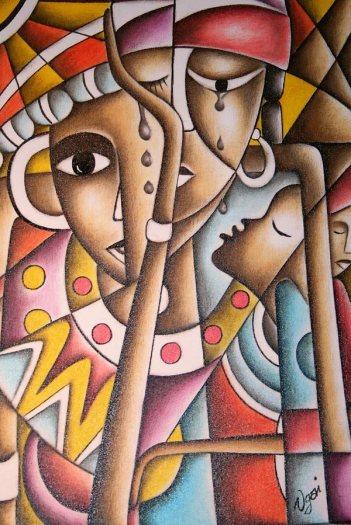 """Exposición """"Love&Culture"""", del artista gambiano Yusupha Gai. Foto: Juan A. Berzal."""