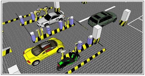 Hình ảnh mô hình bãi giữ xe thông minh