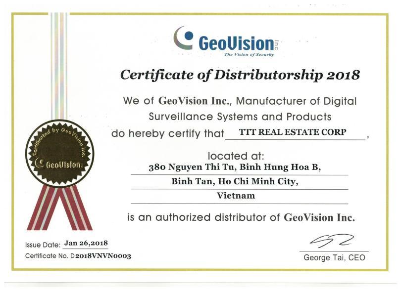 Nhà phân phối của hãng GEOVISION tại Việt Nam