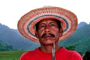El líder yukpa Sabino Romero se dio a conocer por sus protestas contra la minería de carbón y el latifundio. Fue asesinado en 2013. Foto: Cortesía