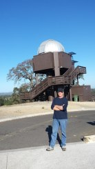 Mike Kast in front of the observatory.