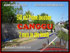 TANAH DIJUAL di CANGGU BALI 550 m2  lingkungan villa