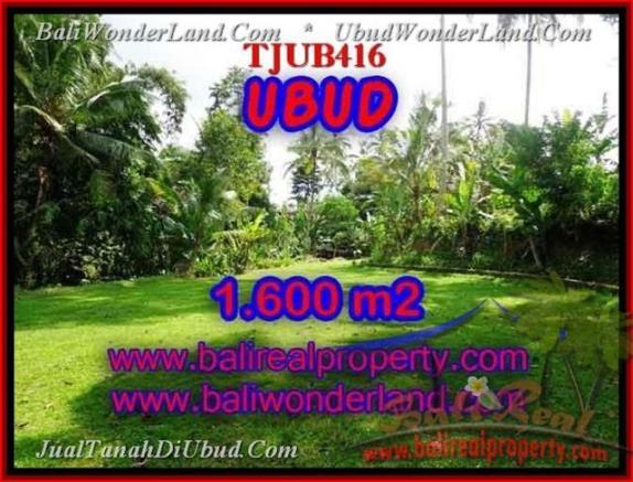 JUAL MURAH TANAH di UBUD 1,600 m2  View sawah dan sungai