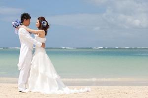 ハワイ挙式ウエディングドレス