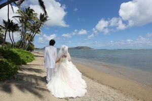 2人でハワイ結婚式をした場合の平均費用