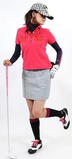 レディースのゴルフウェアのスカート