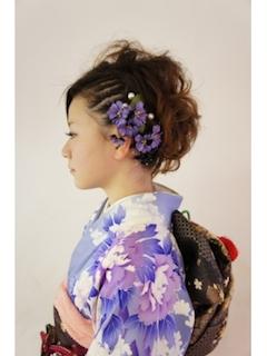 成人式のショートの髪型でサイド編み込みヘアー6