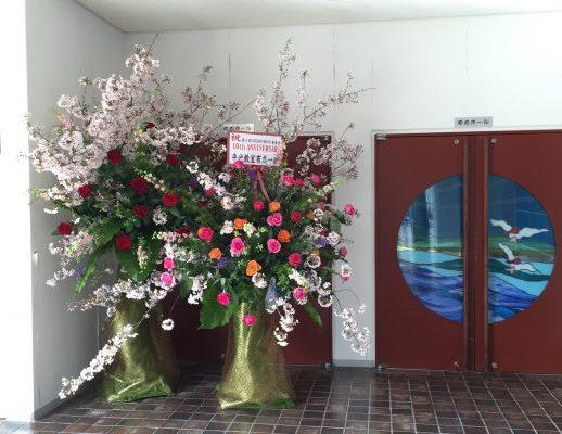 スタジオ シャイン(ダンス教室)発表会のスタンド花