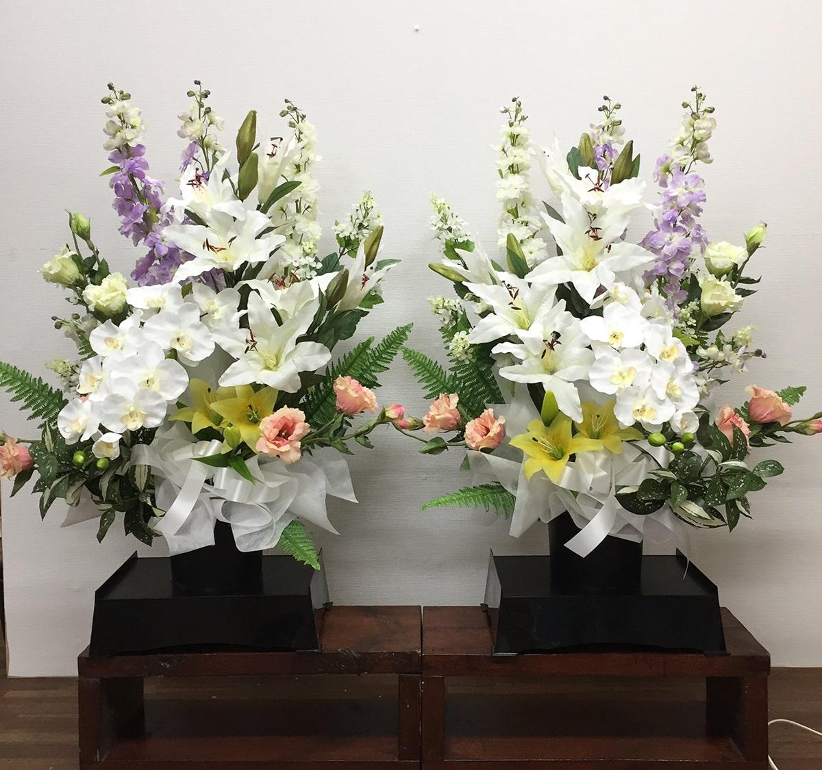 お供え 造花 アレンジメント 1対