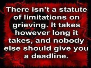 Grieving is not cookie cutter