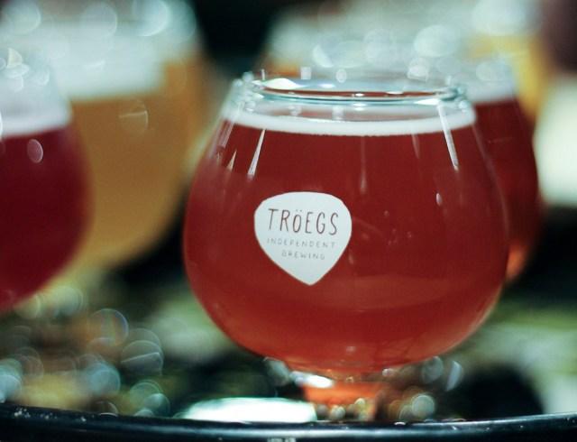 tasting sampler at one of the craft breweries troegs