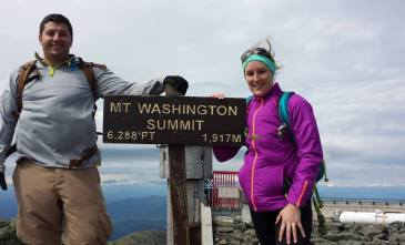 Our first hike up Mt Washington!