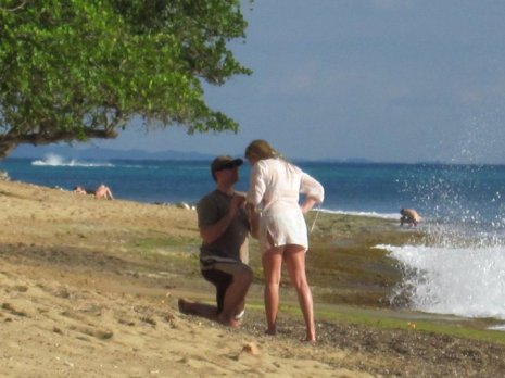 Collect sea glass and propose at Steps beach!