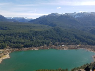 The lake from above! So Pretty....