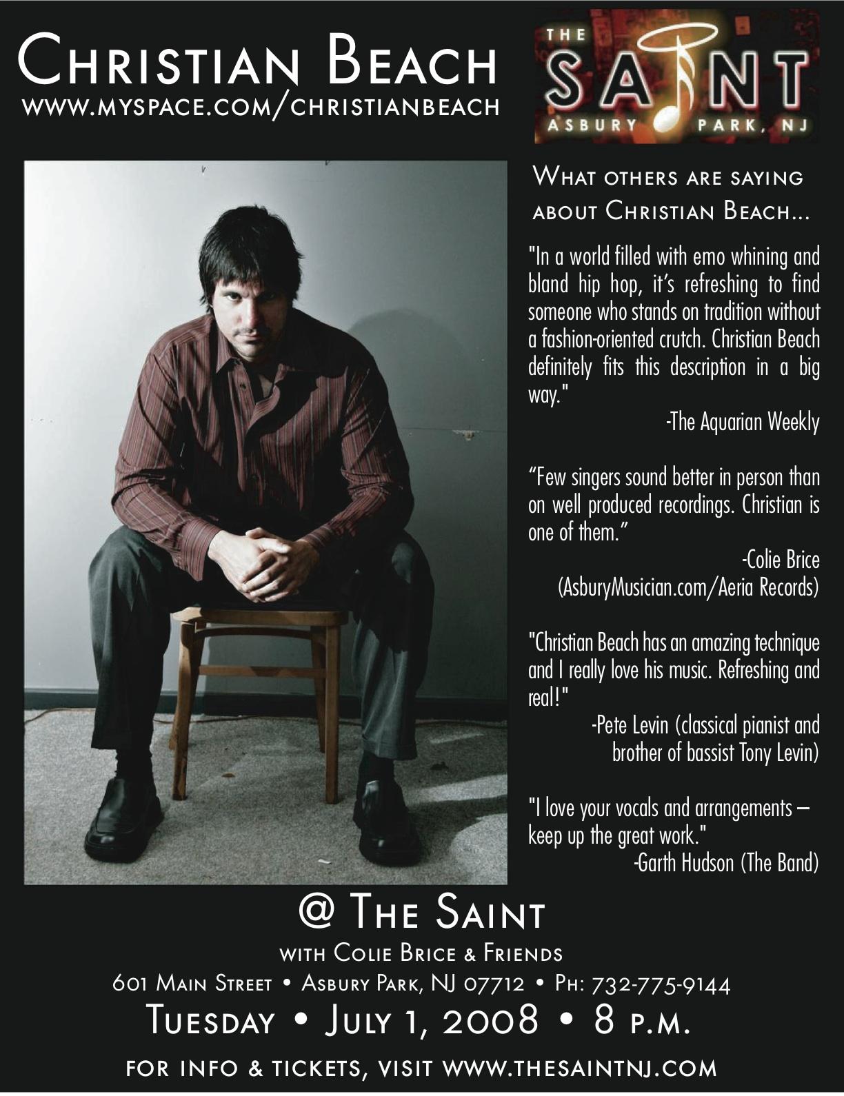 Christian Beach Live @ The Saint 7-1-08