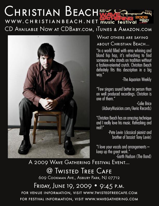 Christian Beach @ Twisted Tree Cafe