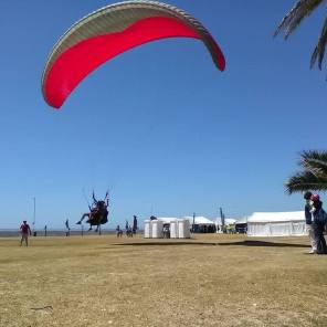 tandem paragliding touch down in sea point