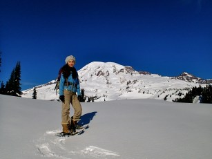 Snowshoeing at Paradise.