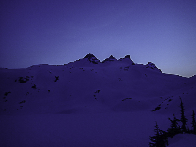 Gothic Peak at night!