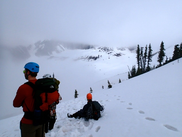 Looking out onto the Nisqually Glacier