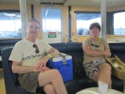 Ferrying in First Class on Mr. C's Birthday