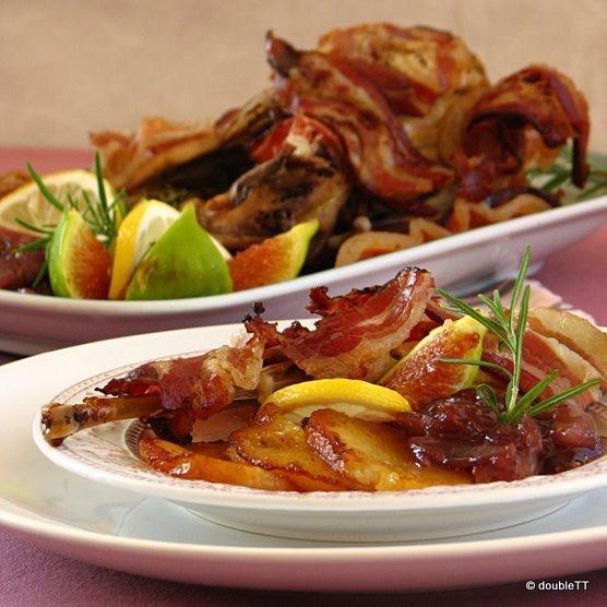 Pečeni fazan sa slatkim od luka i smokava