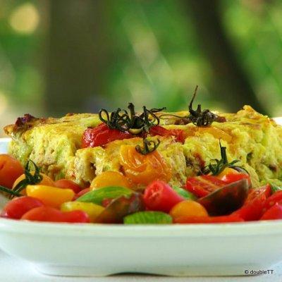 Nabujak od tikvica i piletine – quiche bez tijesta