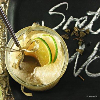 Granita od zelenog čaja i soka limete i limuna