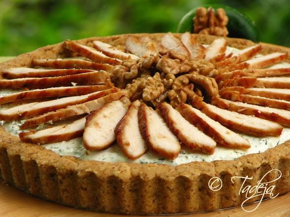 orah pita s mousseom od krastavaca i piletinom s grilla