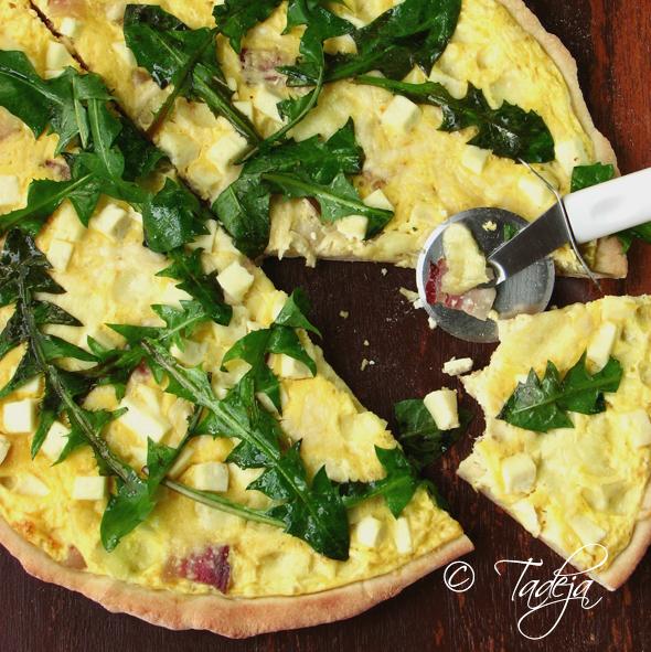 Pizza sa četiri vrste sira i maslačkom i Mali plac na Tavanu