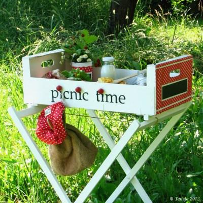 Reciklirani portabl piknik stolić