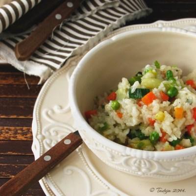 Pržena riža s povrćem