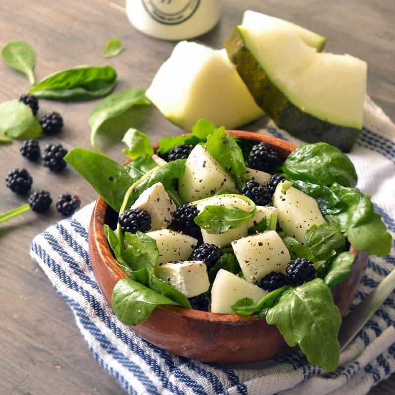 Salata od slatke dinje i rikule