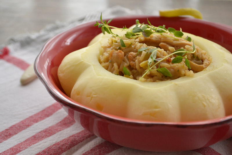 krem rižoto s patišonima i piletinom