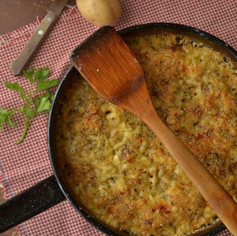 zapeceni vrganji s krumpirom