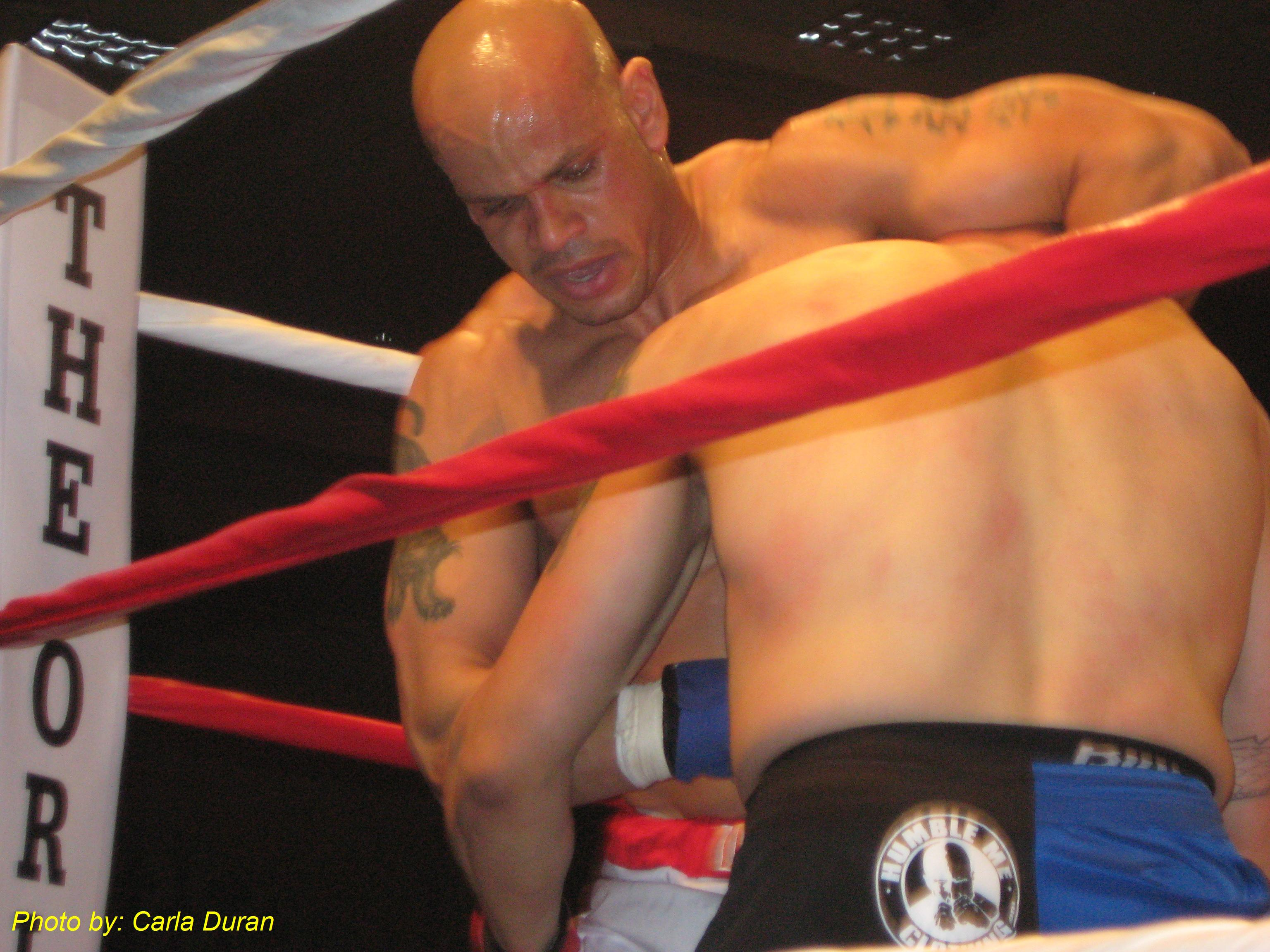 Eddie Jackson kept control of his opponent throughout the match.