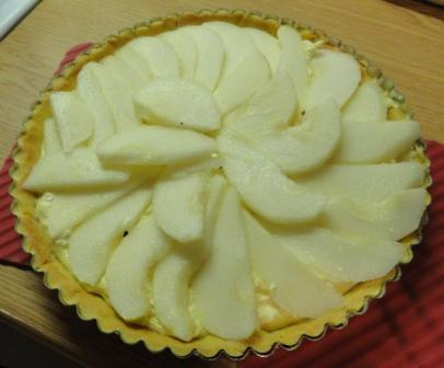 """Pear and Almond Tart"""