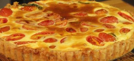 Tomato And Aubergine Tart