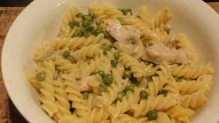 Pea, Mushroom And Chicken Pasta